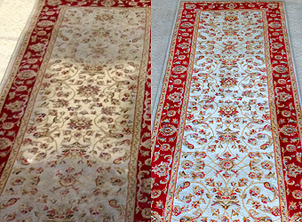 oriental rug cleaning pic 3 before after
